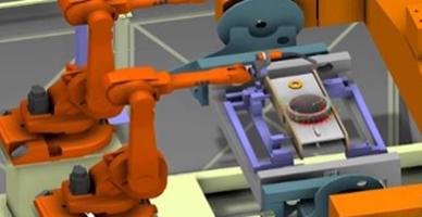 로봇 제조 프로세스 시뮬레이션 사례